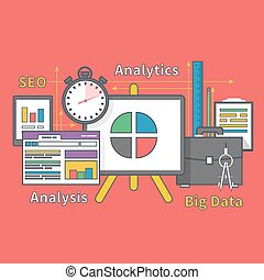 Stand with Charts and Parameters. Big Data Seo - Stand with...