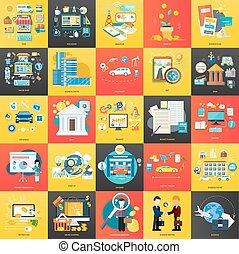 Business concepts on banners - Set of business concepts...