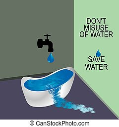 save water concept idea