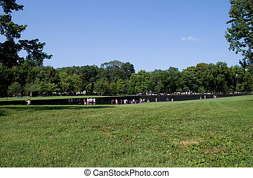 Vietnam War Memorial - WASHINGTON, DC - AUGUST 24: Scenery...