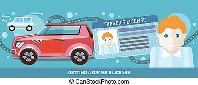 Cartoons Man with Driver License - Cartoons man with driver...