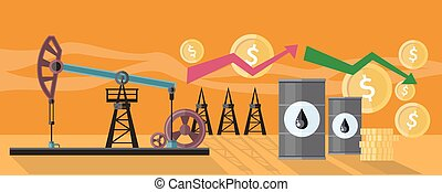Graphic Changes in Oil Prices Production