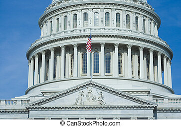 US Capital Building - East Side of The US Capitol Building...