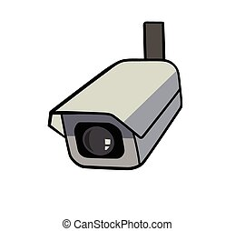 security camera - This is an illustration of security camera