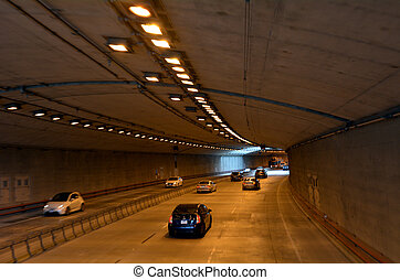 Traffic in San Francisco parkway tunnels San Francisco -...