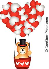 Valentine teddy bear - Scalable vectorial image representing...