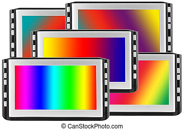 Displays with spectral screens