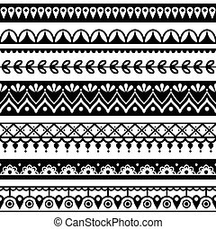 Mehndi, Indian Henna tattoo pattern - vector repetitive...