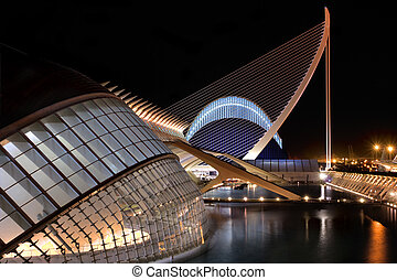Agora and Hemisferic - VALENCIA, SPAIN - NOVEMBER 3: Night...