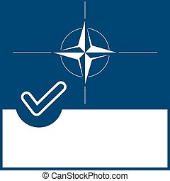 Voting symbol Nato flag - Voting symbol on Nato flag...