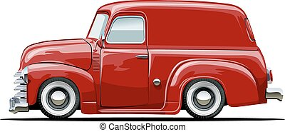 Cartoon retro delivery van - Vector cartoon delivery van...