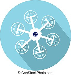 Drone with Camera icon vector eps 10