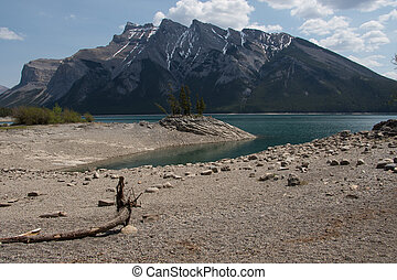 Lake Minnewanka - View of Lake Minnewanka and the Fairholme...
