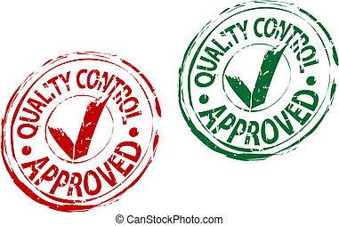 Approved stamp - Check approved stamp isolated on white for...
