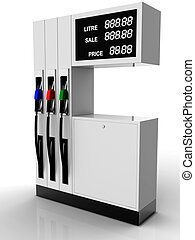 Gas station 3D rendering with easy changeable price