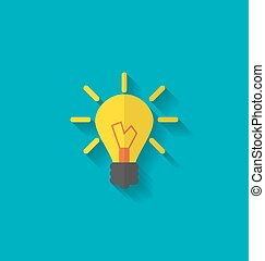 Flat Icon of Lamp - Illustration Flat Icon of Lamp, Concept...