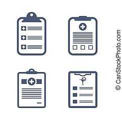 Set Medical Records Clipboard - Illustrations Set Medical...