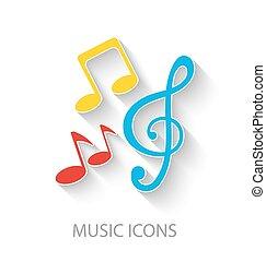 Colorful Stylish Music Icons