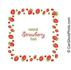 Sweet Frame Made of Strawberry