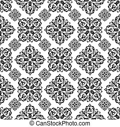 floral wallpaper black