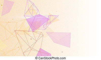 network shapes abstract background