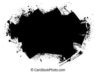 splat roller marks - Grunge style black roller marks with...