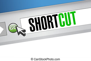 Shortcut browser sign concept illustration design graphic