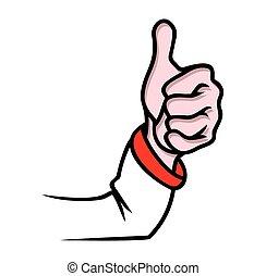 Finger up ok