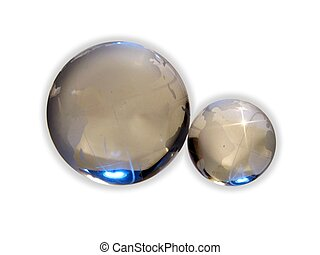 Glass balls - two glass globes