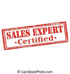 Sales Expert - Grunge rubber stamp with text Sales...