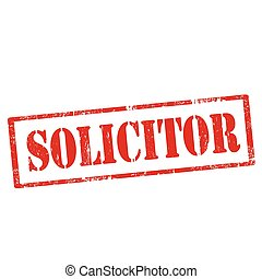 Solicitor - Grunge rubber stamp with text Solicitor,vector...