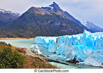 Los Glaciares National Park in Argentina. Sunny summer day....