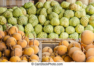 custard apples sales in the fruit market
