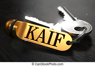 Keys with Word Kaif on Golden Label - Keys with Word Kaif on...
