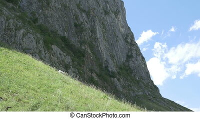 High Steep Mountain - A vertical mountain, steep, used by...