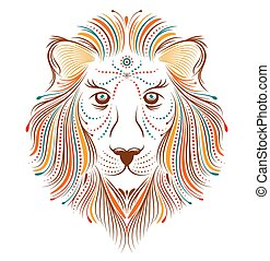 abstract lion on white background