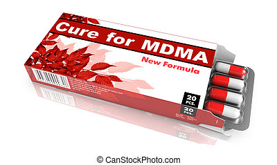 Cure for MDMA - Blister Pack Tablets. - Cure for MDMA - Red...
