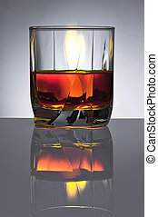 Glass with alcoho