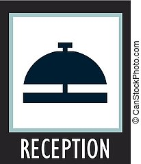 Vector simple icon call the receptionist at hotel.
