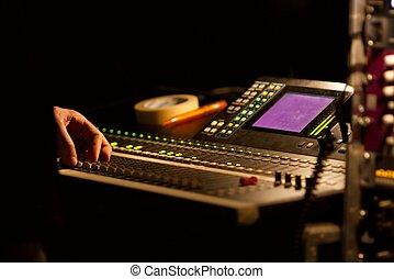Mixer - Soundboard mixer at a concert
