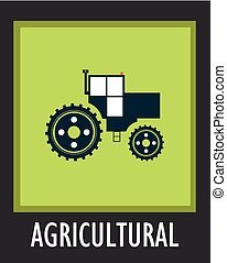 10,  simple,  EPS,  vector, Agricultura,  tractor, icono