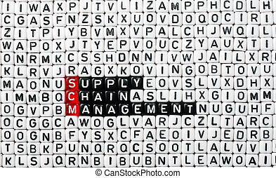 SCM Supply Chain Management written on black and white dices...