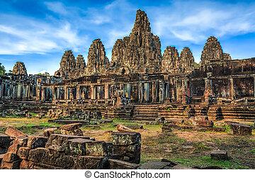 Angkor Thom - Bayon Temple near Seam Reap, Angkor, Cambodia