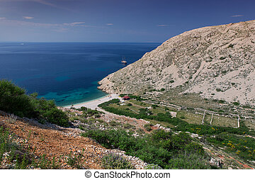 Coast in Krk, Croatia