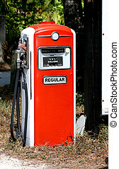 retro gas pump - antique gas pump