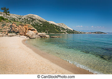 Beach in Krk, Croatia