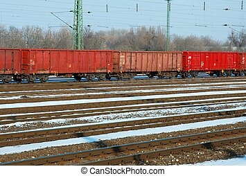 Train - Freight train in winter
