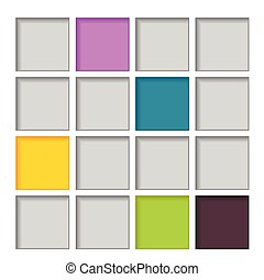 abstract square color vector