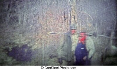 TENNESSEE, USA - 1952: Deer hunters - Unique vintage 8mm...