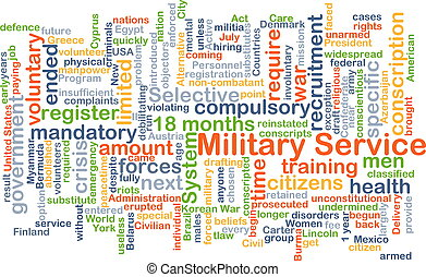 Military service background concept - Background concept...